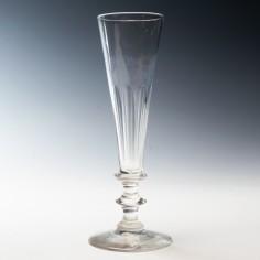 Petal Cut Champagne Flute c1840
