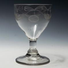 An Engraved Georgian Glass Rummer c1780