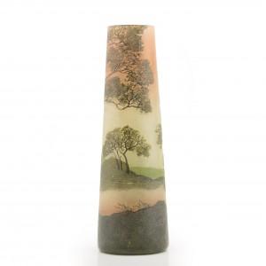 An Enamelled Legras Landscape Vase c1920