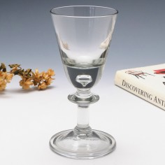 Edwardian Georgian Style Wine Glass c1910