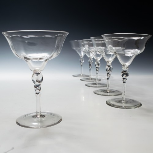 A Set of Six James Powell & Sons Champagne Coupes c1895