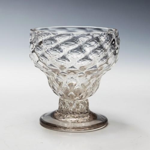 A Georgian Monteith Bonnet Glass c1760