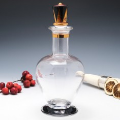 An Orrefors Enamelled and Gilded Decanter c1980