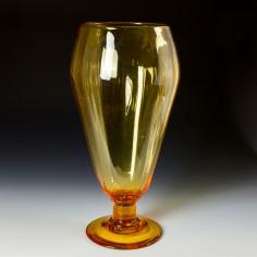 A Monumental James Powell Or Stuart & Sons Large Old Amber Vase c1930