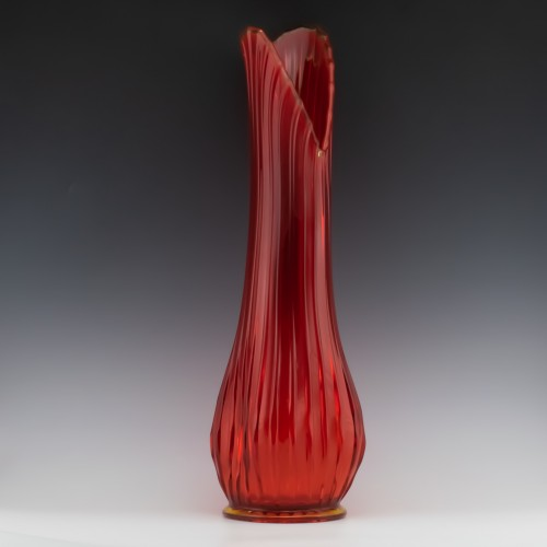 A Monumental Viking Persimmon Orange Swung Vase c1950