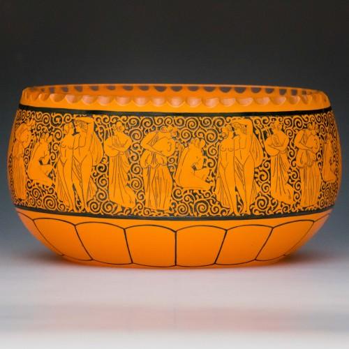 A Orange Cased Deco Jardiniere c1925