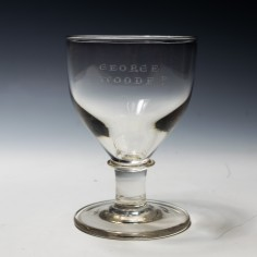 Mid 19th Century Engraved Deceptive Rummer