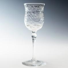 Webb Corbett Rock Crystal Wine Glass c1940