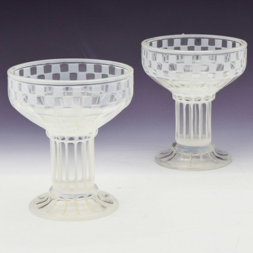 Pair of Otto Prutscher Champagne Coupes c1910