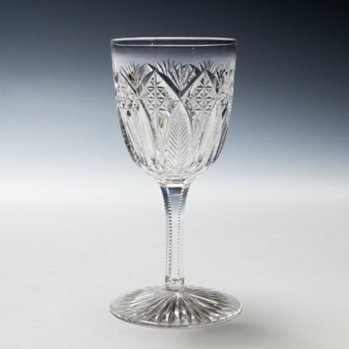 A Rock Crystal Cut Glass c1895