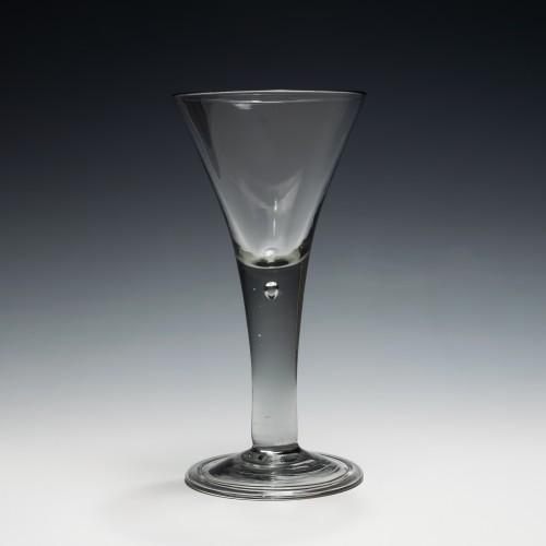 Fine Georgian Plain Stem Wine Glass c1750