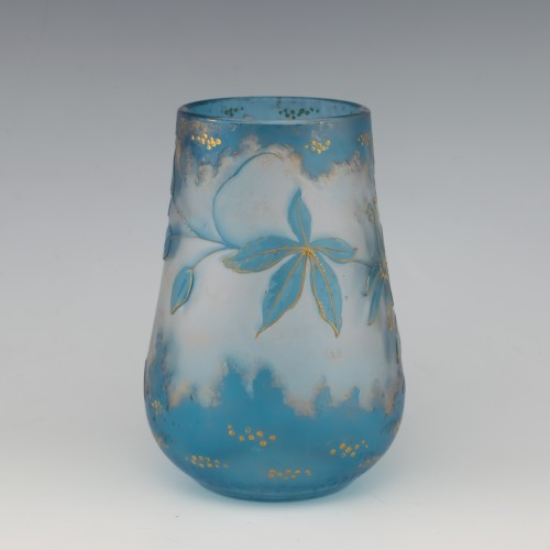 French Cameo Glass Vase c1910