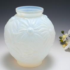 An Etling et Cie Opalescent Glass Vase c1925
