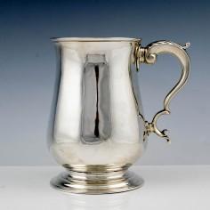 A Sterling Silver Pint Tankard London 1773
