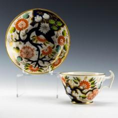 New Hall Imari Pattern 1153 Teacup and Saucer c1820