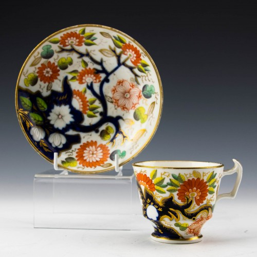 New Hall Imari Pattern 1153 Coffee Cup and Saucer c1820