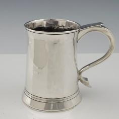 Georgian Three Gill Sterling Silver Tankard London 1770