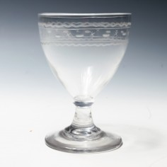 Georgian Glass Rummer c1800