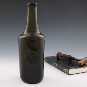 19th Century Sealed Wine Bottle With Family Crest c1815