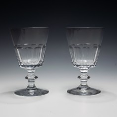 Pair of Victorian Slice Cut Rummers c1860