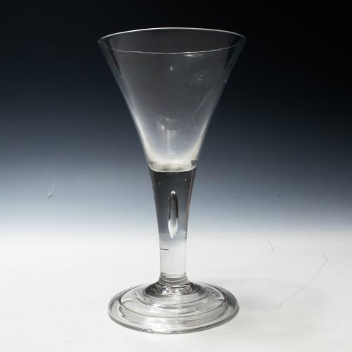 Very Large Plain Stem Georgian Wine Glass Goblet c1740
