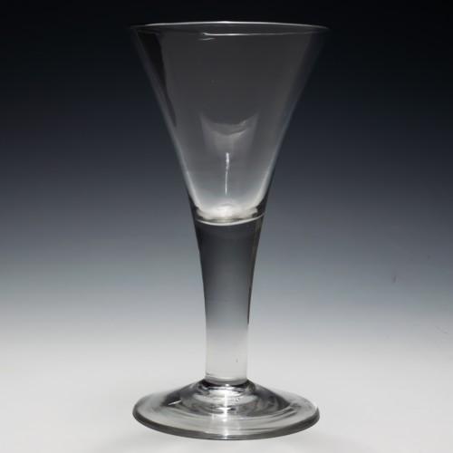 Plain Stemmed Wine Goblet c1750