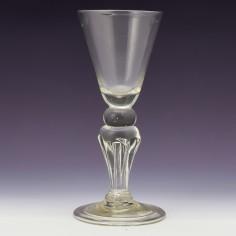 Georgian Pedestal Stem Wine Glass c1735