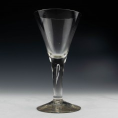 Plain Stem Georgian Wine Goblet c1750