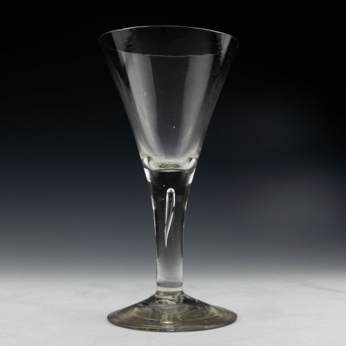 Plain Stem Georgian Wine Goblet c1750