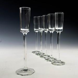 A Set of Six 20th Century Deco Liqueur Glasses