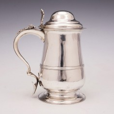 VG Georgian Lidded Quart Tankard 1777