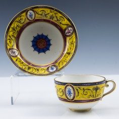 A Sèvres Arabesque Tasse à Thé and Saucer 1791
