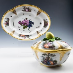 A Meissen Tureen and Stand c1745
