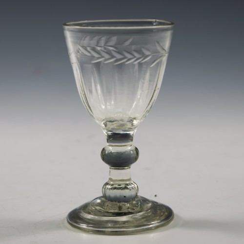 Wheel Engraved Georgian Gin Glass c1780