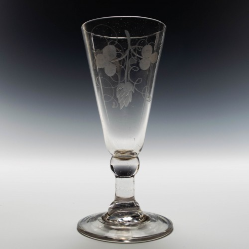 Georgian Wheel Engraved Ale Glass c1760