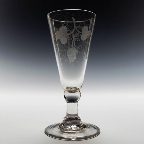 Wheel Engraved Georgian Ale Glass c1780
