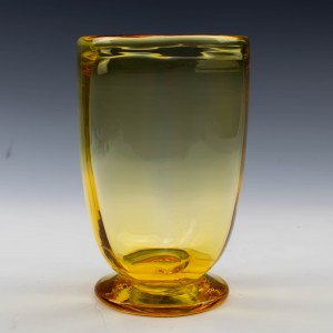 A Whitefriars Gold Amber Vase c1930/40