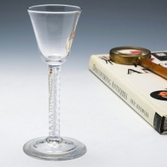 Double Series Mercury Air Twist Wine Glass c1750