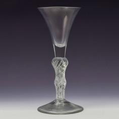 Double Series Air Twist Composite Stem Georgian Wine Glass c1750