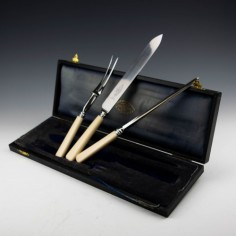 McPherson Brothers Stainless Steel Carving Set c1930