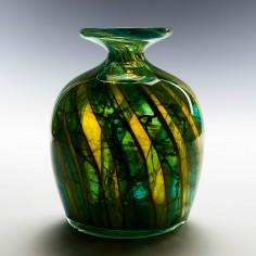 Mdina Blue and Yellow Vase c1975