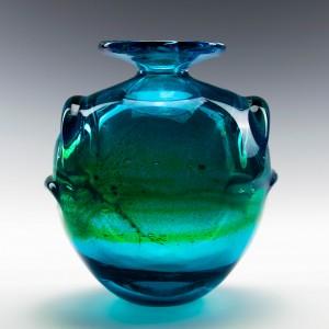 Signed Early Mdina Eared Vase c1975