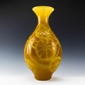 Monumental Degué Art Deco Vase c1930