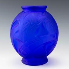 Art Deco Sapphire Blue Vase c1925