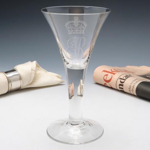 A Whitefriars Elizabeth II Coronation Goblet 1953