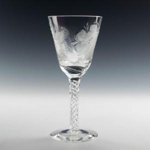 Jacobite Revival Stuart Crystal Wine Goblet By Stuart Davis