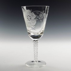 Jacobite Revival Stuart Crystal Wine Goblet