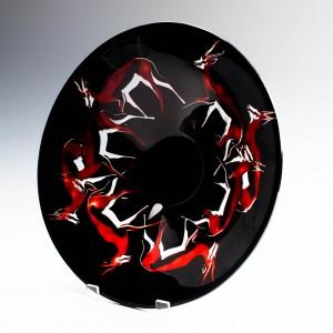Herbertina Cameo Bowl by Agnes Gardonyi for Ajka Crystal c2010