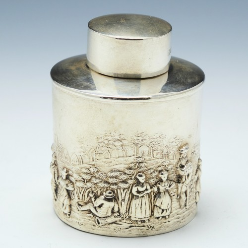 Sterling Silver Tea Caddy Chester 1912