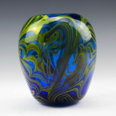 Signed Dominick Labino Vase 1975